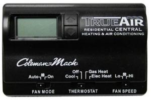 Coleman Mach 6535-3442 True Air Digital 2-Stage Heat Pump/Gas Furnace RV Wall Thermostat - Black