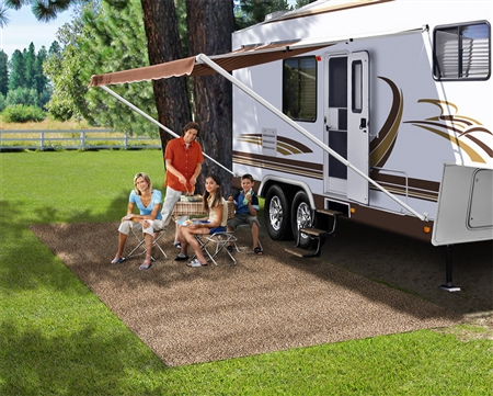 Prest-O-Fit 2-0171 RV Patio Rug Mat - Brown - 8' x 20' Questions & Answers
