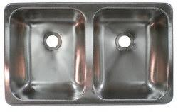 Heng's Industries SSD-2515-5-22 25''W x 15''L x 5''D Stainless Steel Double Sink Questions & Answers