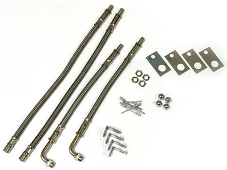 "Wheel Masters 8004 Stainless Steel 4 Valve Extender Kit 22.5"" Wheels Hub Mount"