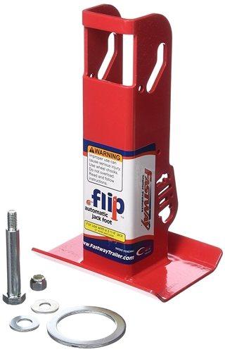 "Fastway Flip 88-00-6500 Automatic 6"" Jack Foot For 2 1/4"" Travel Trailer Tongue Jacks"