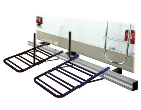 Will the Swagman 80600 4 Position RV Bumper Bike Carrier work while flat towing a vehicle?