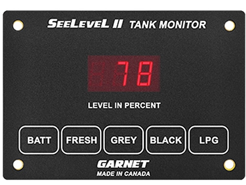 Garnet 709-MO Seelevel II - Monitor Only battery level indicated in volts?