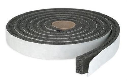 "AP Products 018-381210 Multi-Purpose Vinyl Foam Tape - 3/8"" X 1/2"" X 50 Ft - Black"