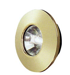 Gustafson AM4014 Brass Halogen RV Ceiling Light With Mounting Collar