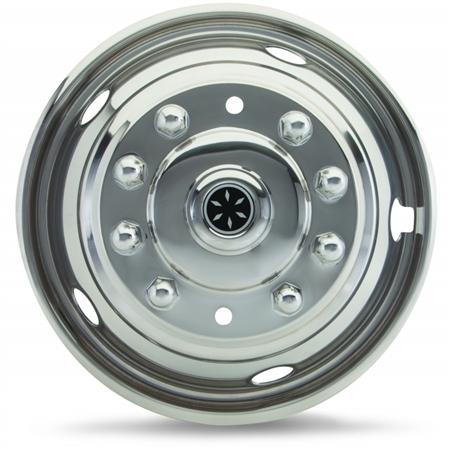 """Dicor V160G4 Versa-Line SS Wheel Cover Set 6"""" to 16.5"""" Chevrolet/GMC"""