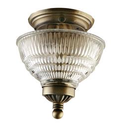 Gustafson 56AM547XYZ42 Antique Brass Ceiling Light w/ Crystal Shade Questions & Answers
