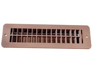 RV Designer H860 RV Plastic Floor Register With Damper - Tan