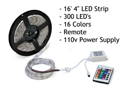 Rollumup 16' LED Light Strip with Remote