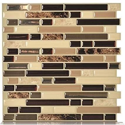 Smart Tiles SM1034-4 Peel and Stick Mosaic Tile RV Backsplash - Ballagio Keystone Questions & Answers