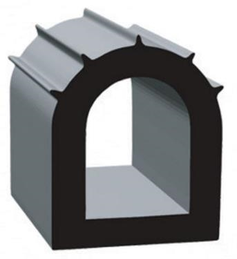 Clean Seal 2828B-ST-50 Slide Out EDPM Seal, D-Type - Black