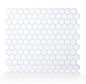 Smart Tiles SM1038-4 Pack Mosaic Tile RV Backsplash - Hexago