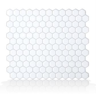 Smart Tiles SM1038-4 Peel and Stick Mosaic Tile RV Backsplash - Hexago Questions & Answers