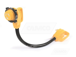 Camco 55522 Power Grip 90 Degree Locking Electrical Adapter - 30 Amp - 18'' Questions & Answers