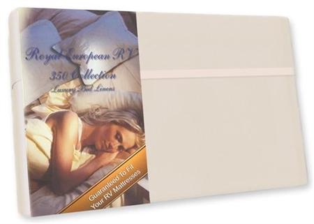 "Custom Recreational RV60X80/SW Custom RV Queen Sheet Set 350 Thread Count Satin White 60"" x 80"""