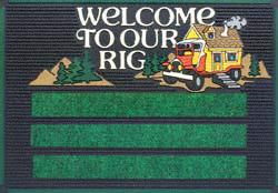 PlastiColor 866 Patio Mat, Welcome To Our Rig