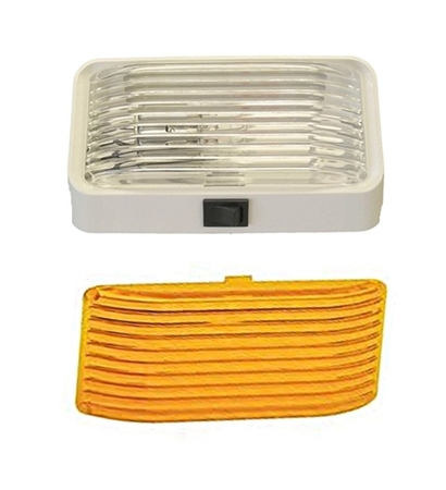 LaSalle Bristol GSAM4018 RV Porch Light With Clear And Amber Lenses - With Switch Questions & Answers