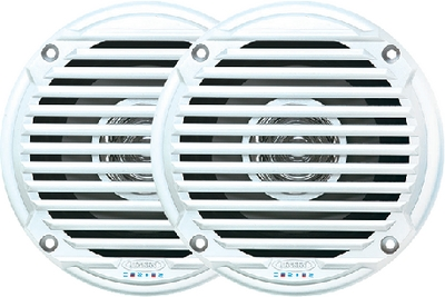 Jensen MS5006WR Dual Cone Waterproof Speakers - White - 2 Pack