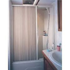 Irvine 3667SI Pleated Fabric Folding Shower Door, Ivory, 36'' x 67'' Questions & Answers