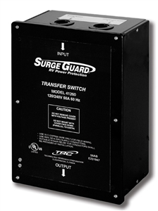 When Surge Guard 41260 is plugged into shore power and I add load the power is good for 10 min then drops out.