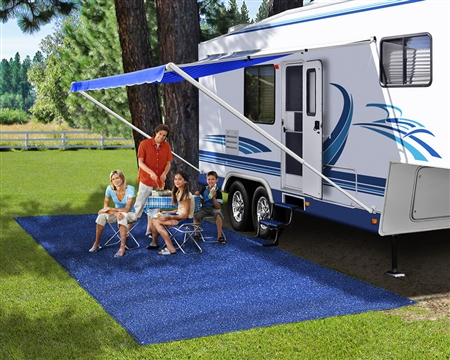 Prest-O-Fit 2-1151 RV Patio Rug - Imperial Blue - 6' x 15'
