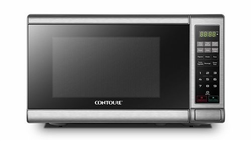 What is the country of manufacture for the Contoure RV787S Stainless Steel RV Microwave?