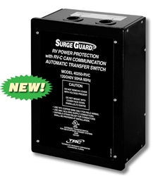 Does the trc 40250 surge guard have a time delay after a power interruption?