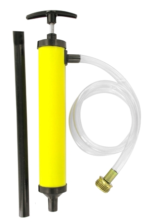 can this pump be used to clear the lines of water?