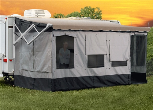 can you install a 21 ft  enclosure on a larger awning?  my over all awning length is 24ft