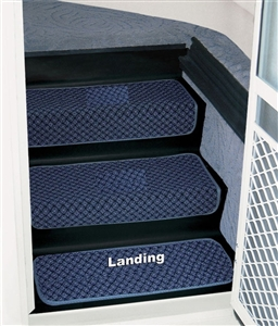 Prest-o-Fit 5-3082 23'' Step Huggers for Landing Steps - Ocean Blue Questions & Answers