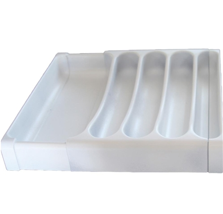 Camco 43503 Adjustable RV Cutlery Tray Organizer- White
