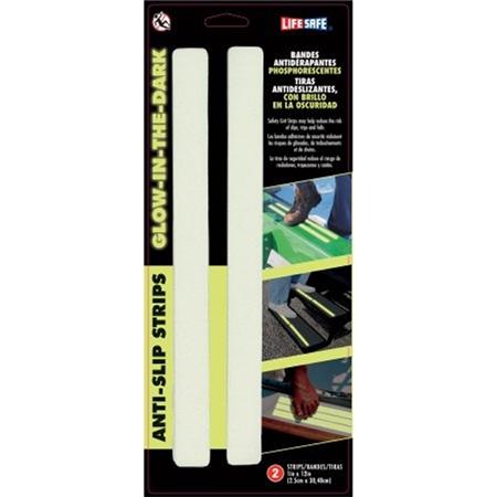 InCom RE633GL Gator Grip Glow-in-the-Dark Anti-Slip Step Strips - 2 Pack