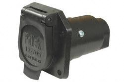 Is the New Pollak 12-707E a wired connection or a tab plug in connection?