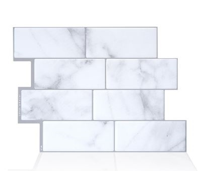 Smart Tiles SM1080-4 Peel and Stick Mosaic Tile RV Backsplash - Metro Carrera Questions & Answers