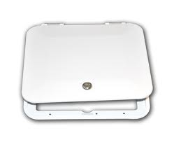 JR Products E8102-A  Locking Multi-Purpose Hatch Without Back