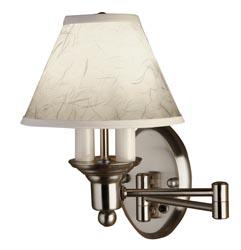 Gustafson 54AM508XYZ23 Satin Nickel Shaded Swing Arm Wall Lamp Questions & Answers