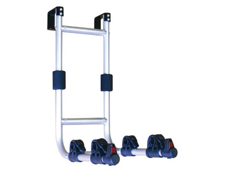 what is the weight capacity of this rack, swagman rv ladder mount, and will it accomidate the Huffy frame?