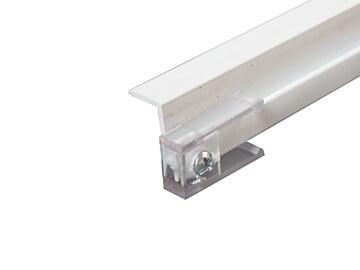 "RV Designer A201 Glide Curtain Ceiling Track White - 45"""