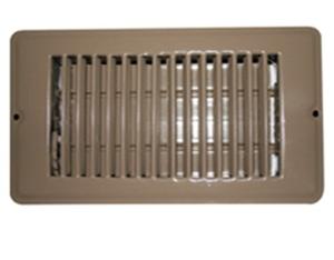 AP Products 013-630 4 x 12 Brown Floor Register