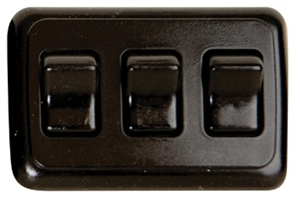 Valterra DG3315VP Triple Contoured On/Off Switch - Black Questions & Answers