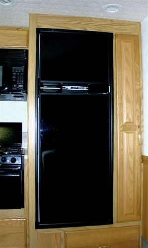 FRV Inc. N300L Norcold N300 Black Acrylic Refrigerator Door Panel