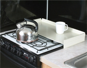 Camco 43557 Steel Stove Top Cover - White