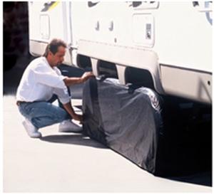 "ADCO 3993 Black Triple Axle Tyre Gard - 27-29"""