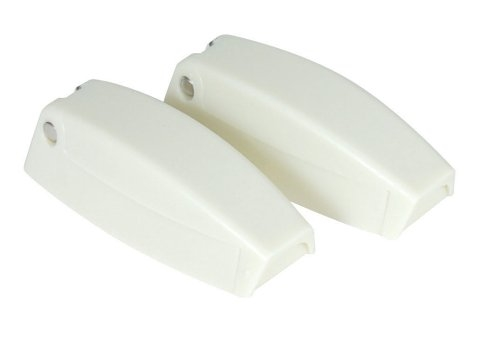 Camco 44173 RV Baggage Door Catches - Polar White - 2 Pack