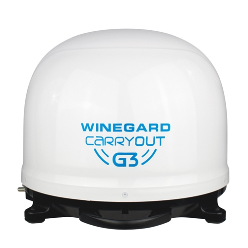 Winegard GM-9000 Carryout G3 Portable Automatic Satellite Antenna - White Dome