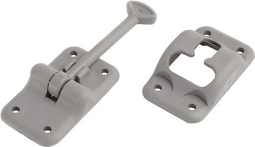 "RV Designer E234 Plastic Entry Door Holder, 3 1/2"" Gray"