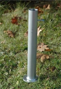 Will rain water collect in base of the Flagpole to Go Ground Mount?
