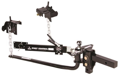 """Husky Towing 31986 Round Bar Weight Distribution Hitch - 2-5/16"""" Ball - 6000 Lbs"""
