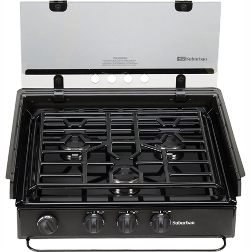 Where can I find the model number on our cooktop?