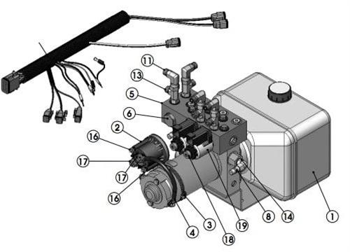 Lippert 156844 LCI 2 Valve Pump Assembly
